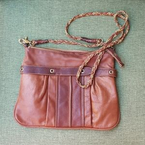 Sabina New York leather boho crossbody handbag.